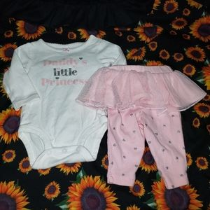 Baby girl princess outfit 3 month